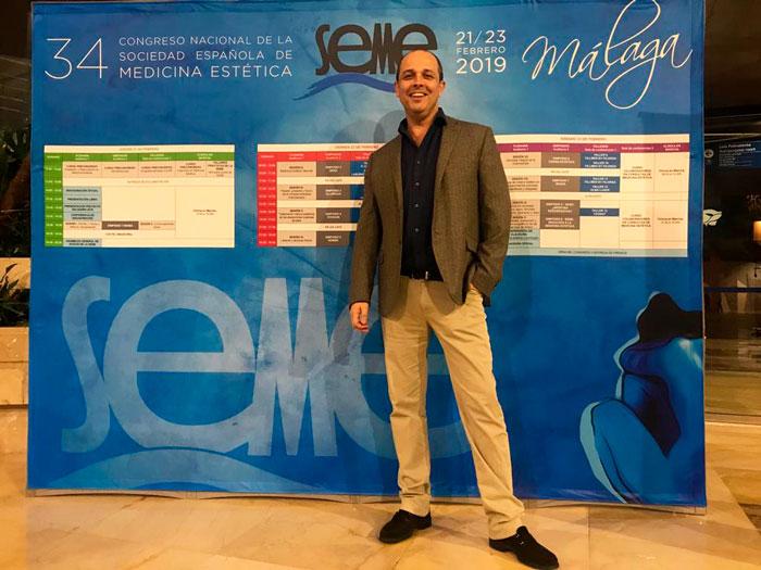 El doctor Moisés Amselem de la Academia de Medicina Estética Avanzada en SEME 2019