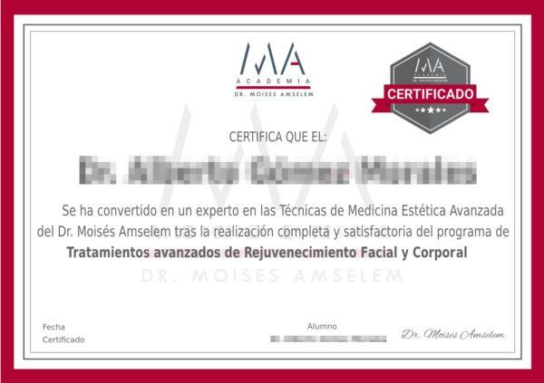 Certificado Dr Moises Amselem