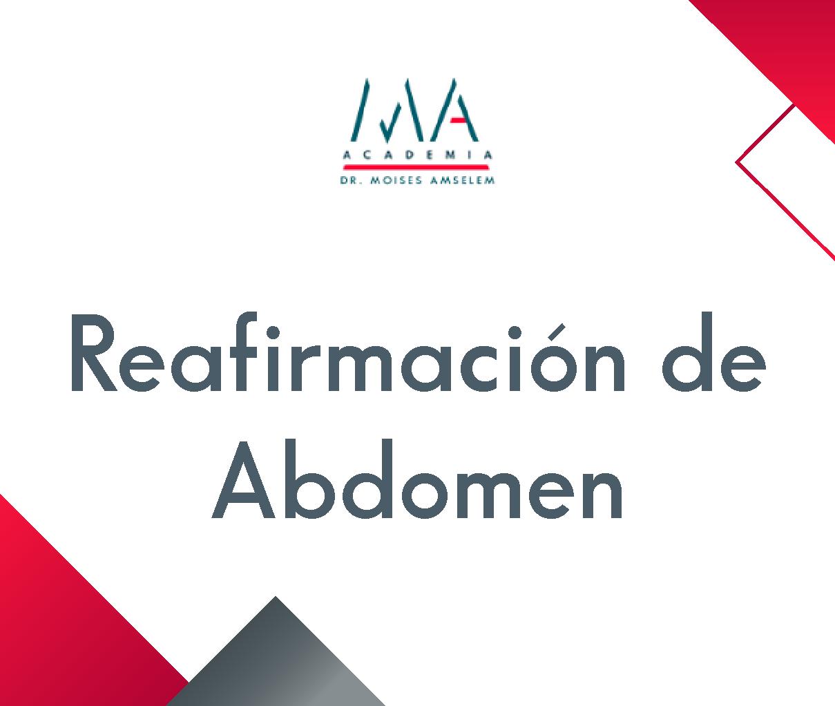 Reafirmación de abdomen
